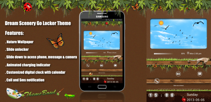 Monkeys Dream Galaxy S4 Go Locker theme