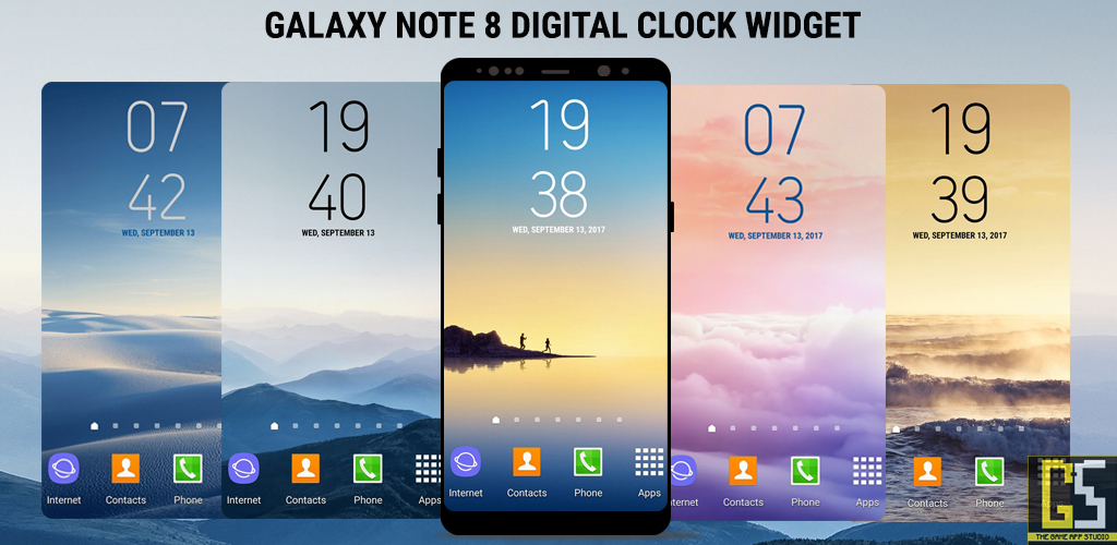 Samsung Galaxy Note8 S8 Clock Widget App