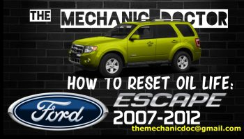 How to reset oil life: Ford Taurus 2010, 2011, 2012, 2013, 2014