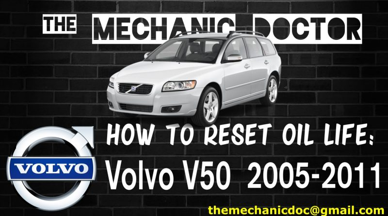 how to reset oil life volvo v