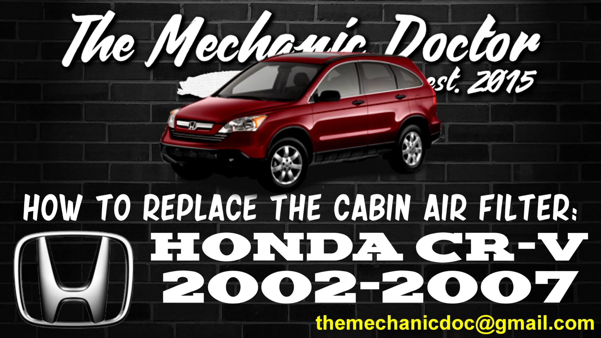 How To Replace The Cabin Air Filter : Honda CR V 2002, 2003, 2004, 2005,  2006, 2007.