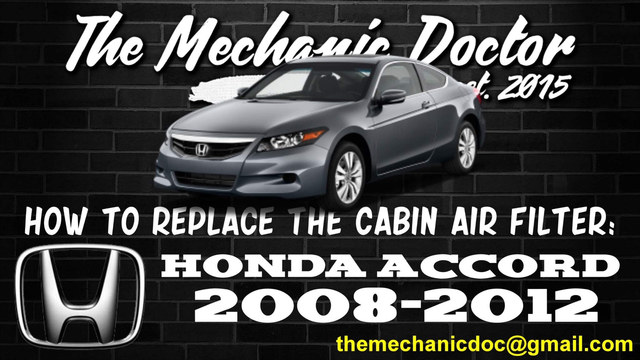 How To Replace The Cabin Air Filter : Honda Accord 2008, 2009, 2010, 2011,  2012.