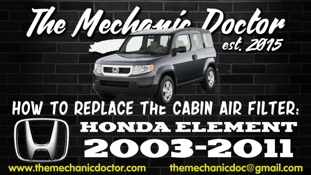 How To Replace The Cabin Air Filter Honda Element