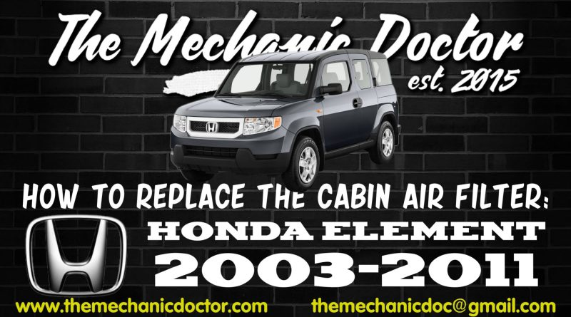 how to replace the cabin air fil