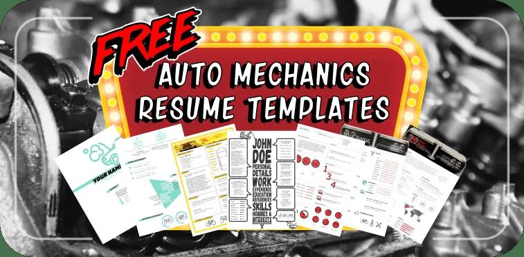 Free resume templates for auto mechanics