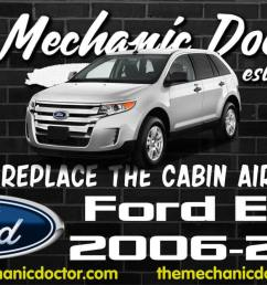 how to replace the cabin air filter ford edge 2006 2007 2008how to replace [ 1280 x 720 Pixel ]