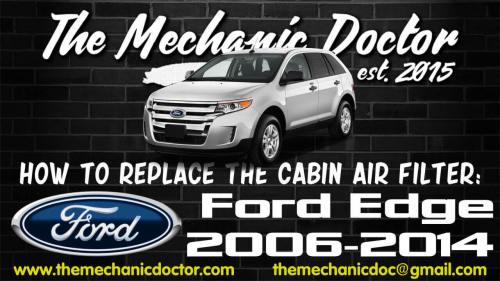 small resolution of how to replace the cabin air filter ford edge 2006 2007 2008how to replace