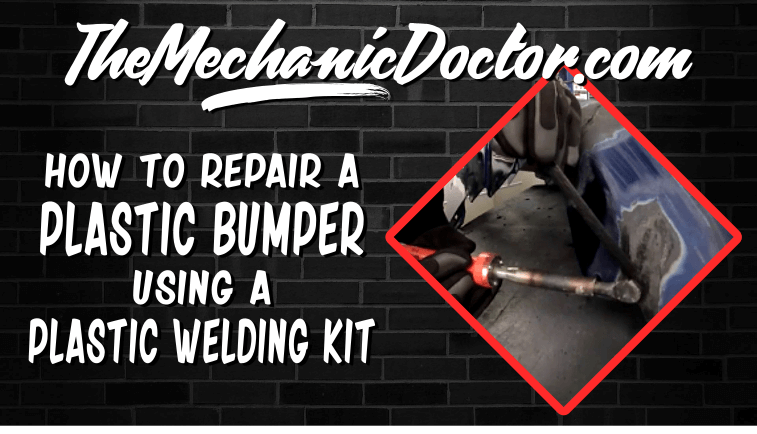 Plastic Bumper Repair Kit >> How To Repair A Cracked Plastic Bumper Using A Plastic Welding Kit