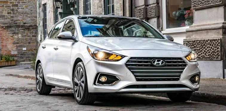 White 2020 Hyundai Accent