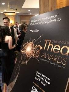 Themed Entertainment Association Thea Awards Gala lobby sign