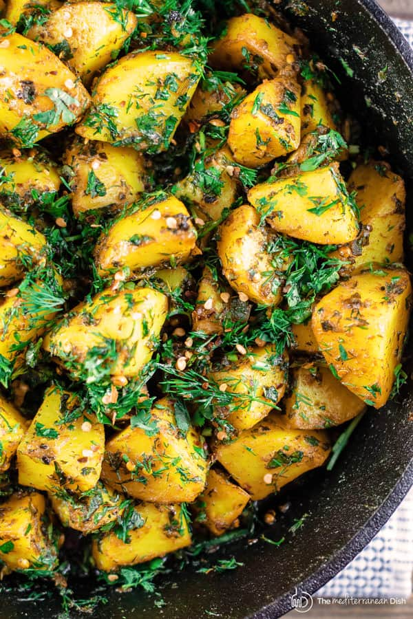 Middle Eastern Spicy Potato Salad Recipe | The
