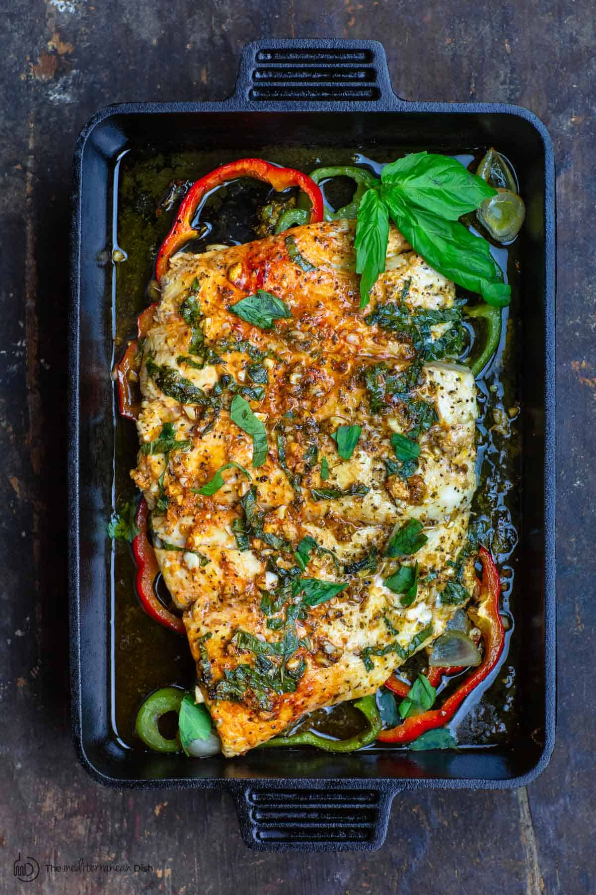 Baked Fish With Garlic And Basil
