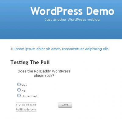 PollDaddy Test