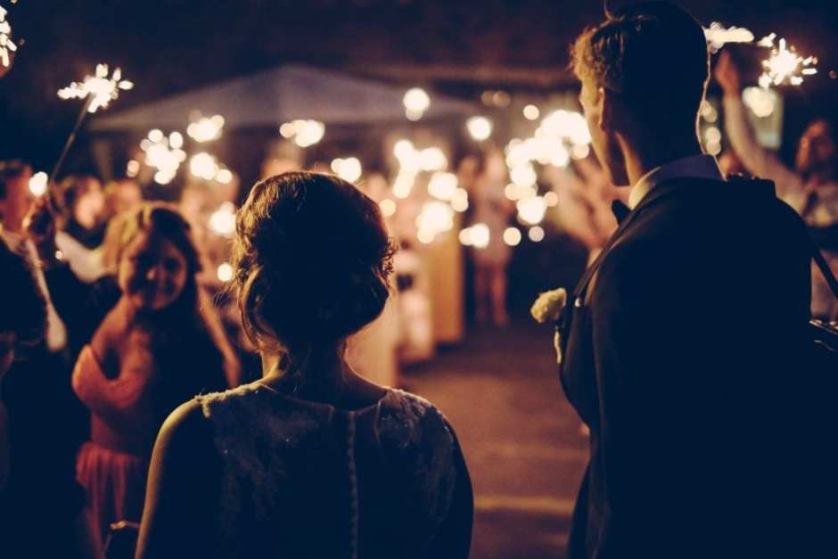 Essex wedding photography with sparklers