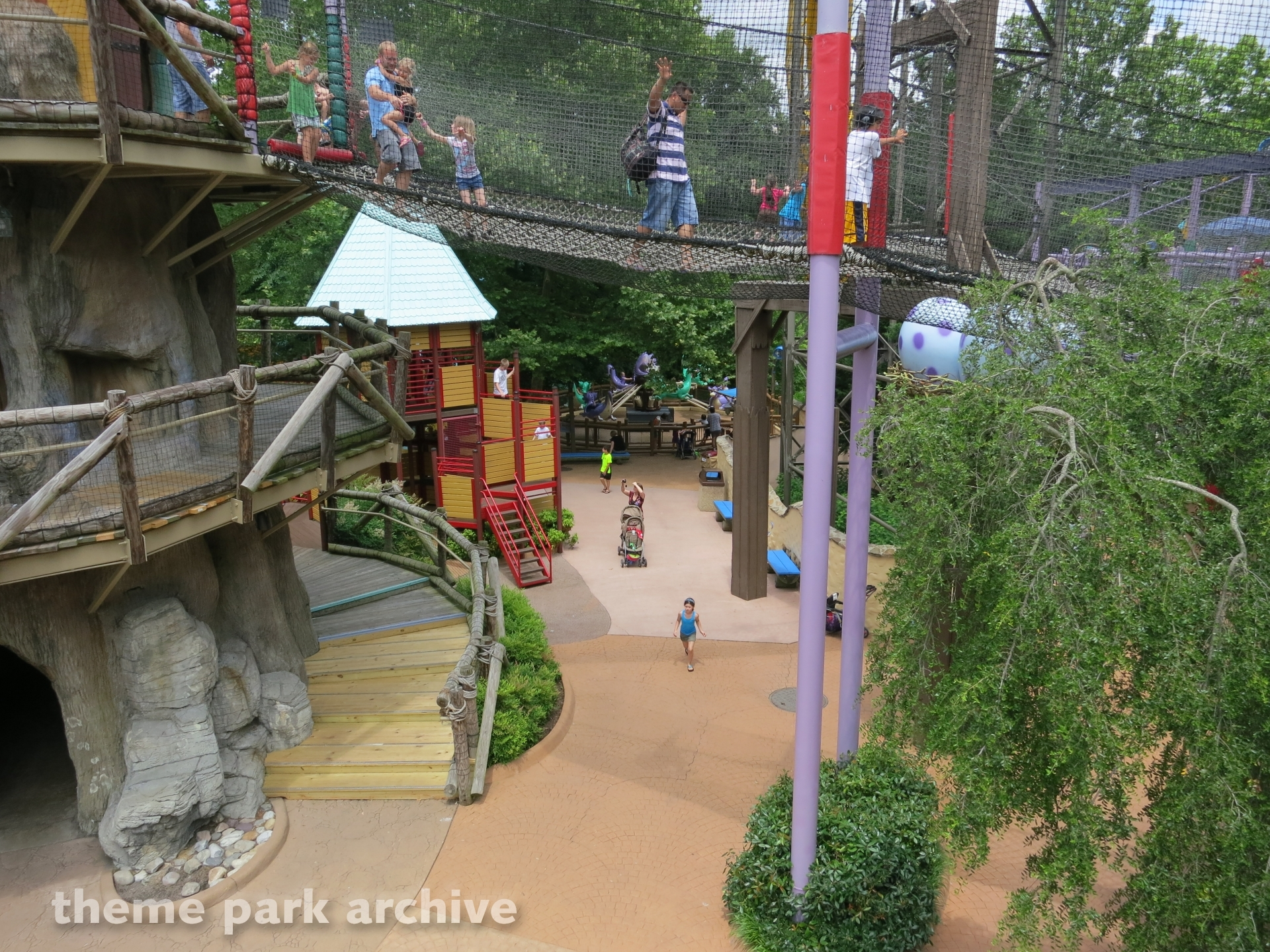 2013 Busch Gardens Williamsburg Attractions Map 2014