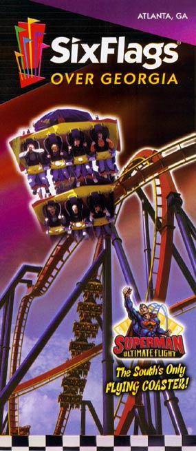 Theme Park Brochures Six Flags Over Georgia  Theme Park