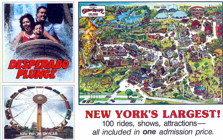 Theme Park Brochures The Great Escape Fun Park  Theme