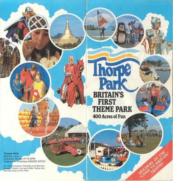 Theme Park Brochures Thorpe Park  Theme Park Brochures