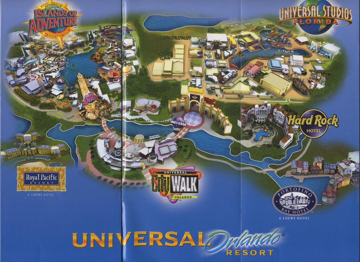 Universal Studios Islands Of Adventure Map 2021