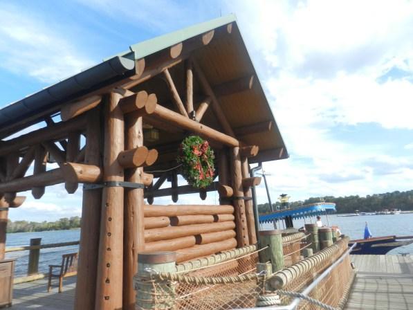 Fort Wilderness Lodge at Disney boat dock.