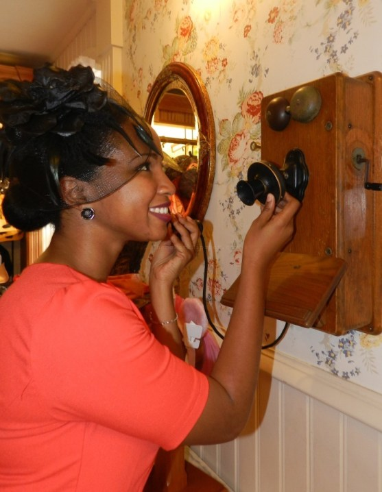 Pick up the mystery phone on Main Street USA in the Magic Kingdom