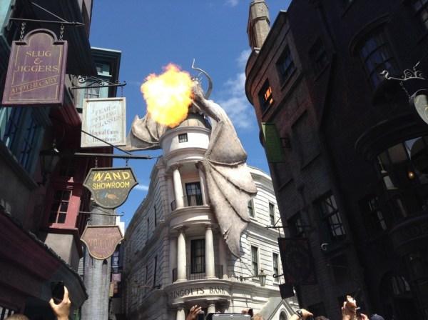 Diagon Alley Firebreathing dragon