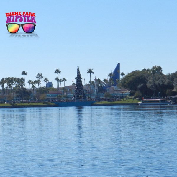 Taking the scenic yuletide walk from Disney's Hollywood Studios to the Boardwalk Inn