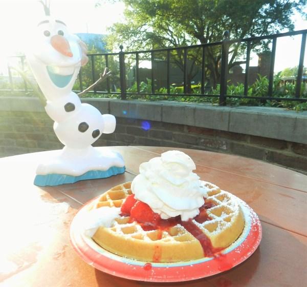 Disney Dining Waffles