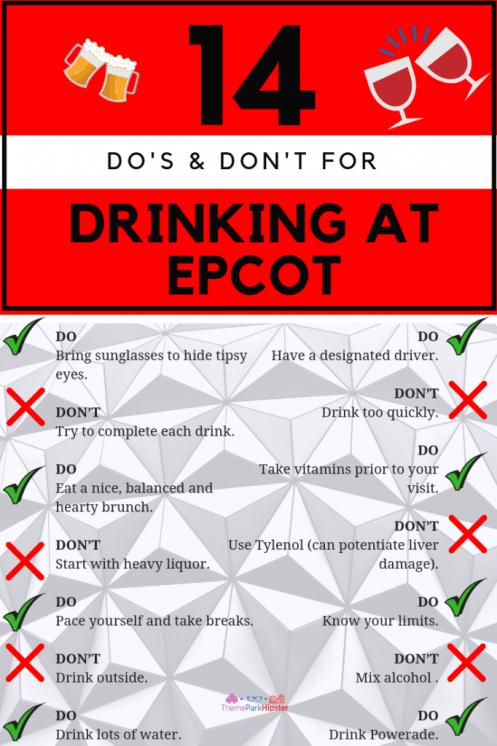 Drinking Around the World Epcot Tips. #disneytips #themepark
