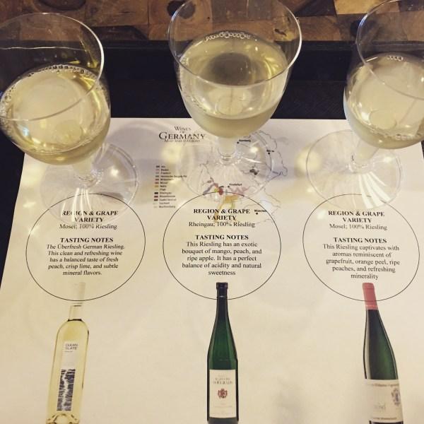 German Wine Flight in Epcot