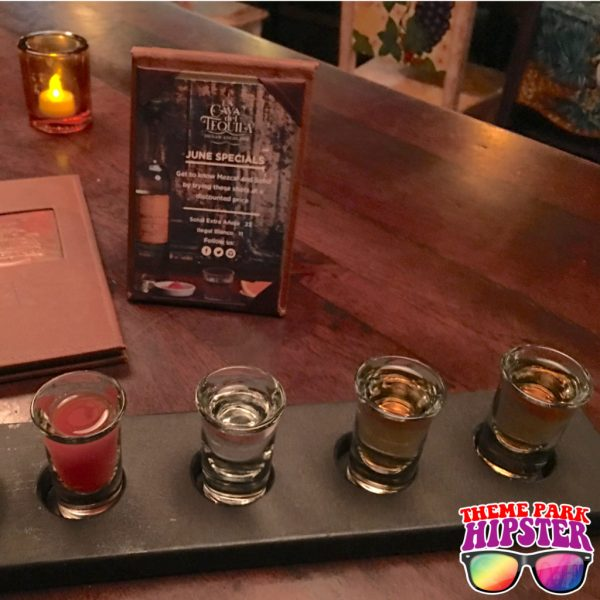 Tequila Flight in Mexico Pavilion at Epcot