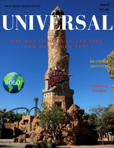 Universal Studios guide and tips