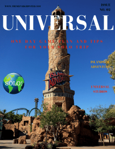 Universal Studios guide and tips with lighthouse