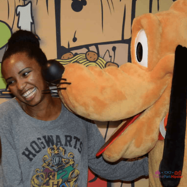 NikkyJ ThemeParkHipster Disney Solo with Pluto kisses