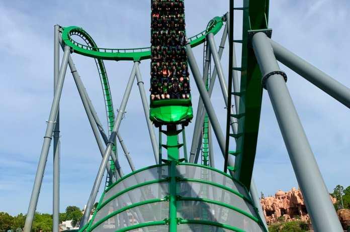 Incredible Hulk Coaster at Universal's Islands of Adventure