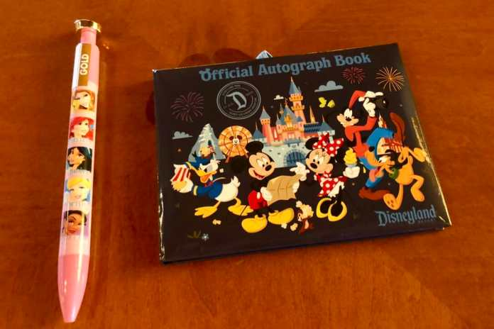 Disneyland Autograph book and pen