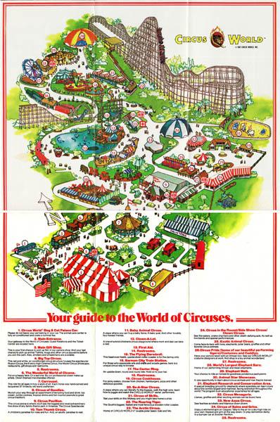 Circus World  1982 Park Brochure