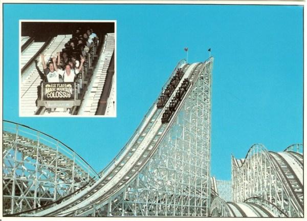 Six Flags Magic Mountain Mark39s Postcard Paradise Colossus