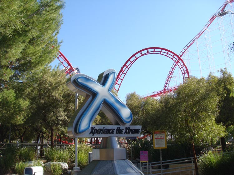 It is the world's first 4th dimension roller coaster and was the final roller coaster conceived and installed. X2 Six Flags Logo