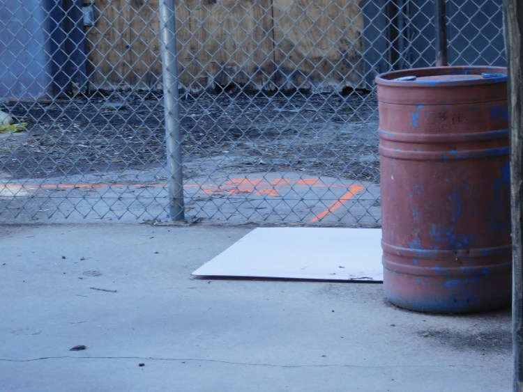 """Another """"Bldg cor"""" marking. Keep in mind these markers all meet up with each other."""