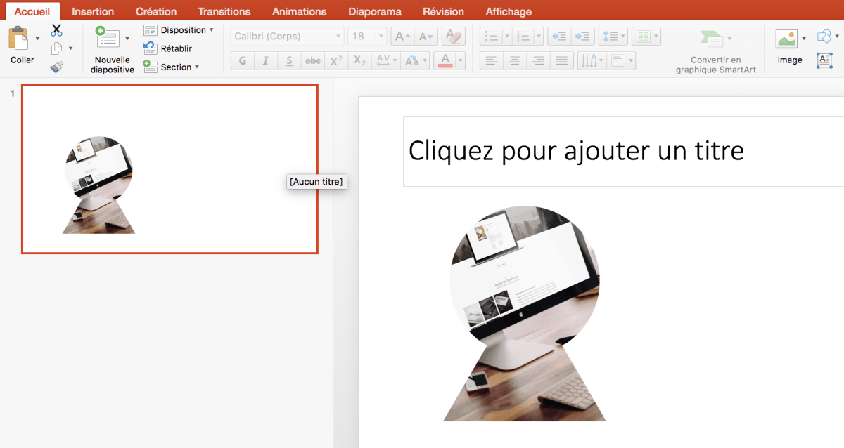 Insertion image forme powerpoint