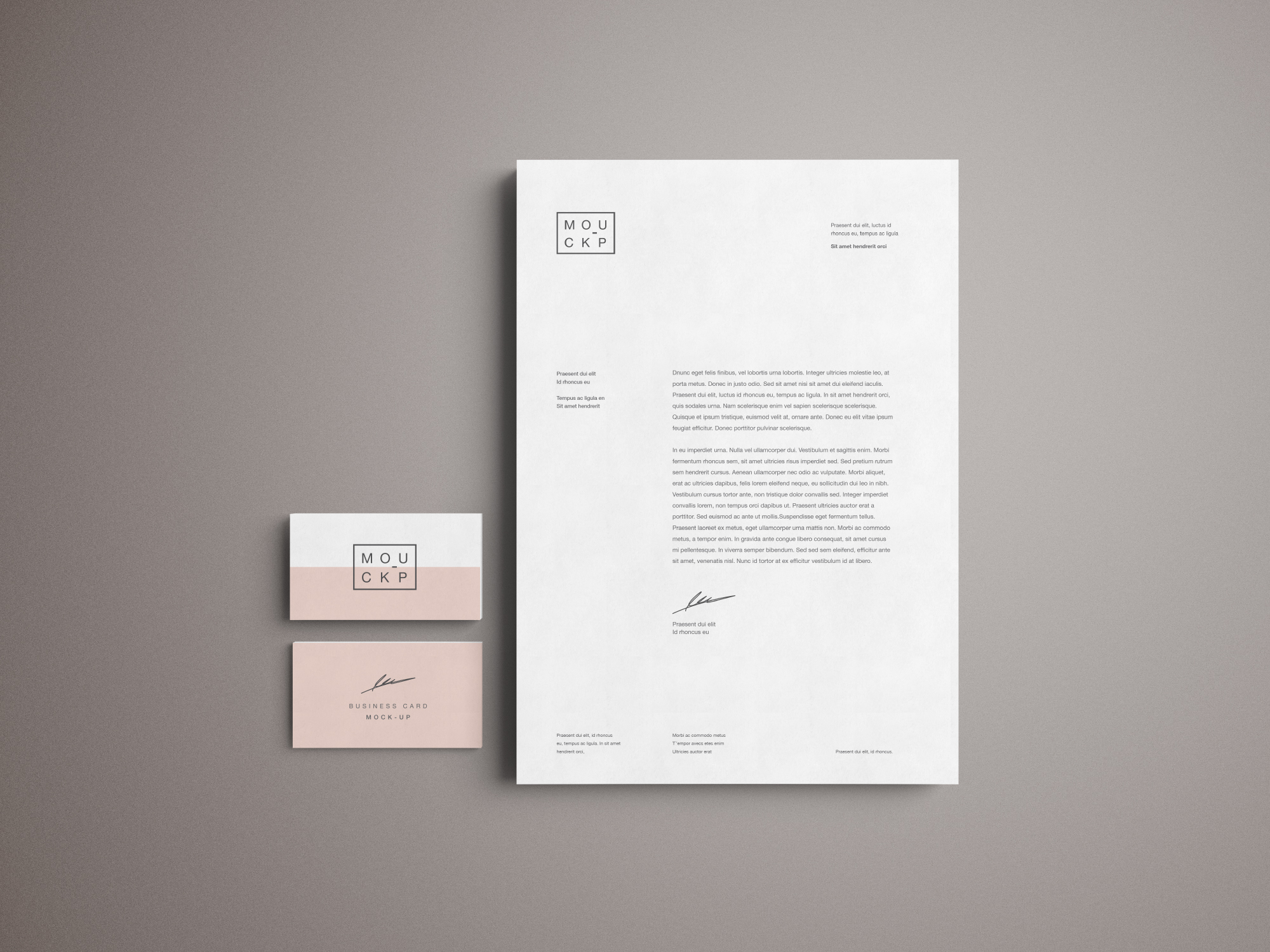 Advanced Branding & Stationery Psd Mockup
