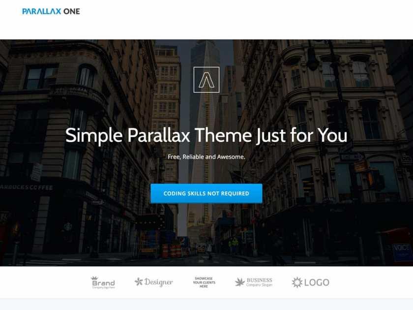 parallax-one-theme