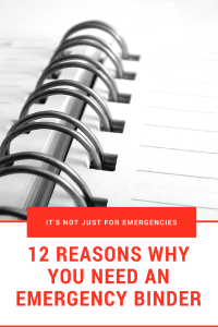 "There are many reasons to use this binder OTHER than emergencies. Download your FREE Emergency Binder and learn ""Why do I need an Emergency binder""."