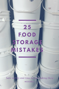 Are you making one of these 25 top food storage mistakes? Food storage can take a long time to build and money to invest in.  Just like you protect your prop