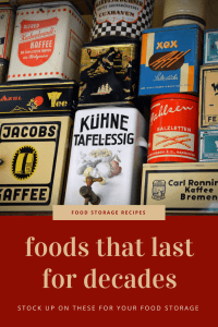 There is a good variety of foods that will last for decades. Keep reading for the list of 15 foods that last for decades. | long term food storage | shelf stable ingredients |