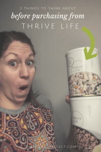 Thrive might not be the best choice. Read 3 things to consider when purchasing from Thrive Life and determine if it's the best route for you.