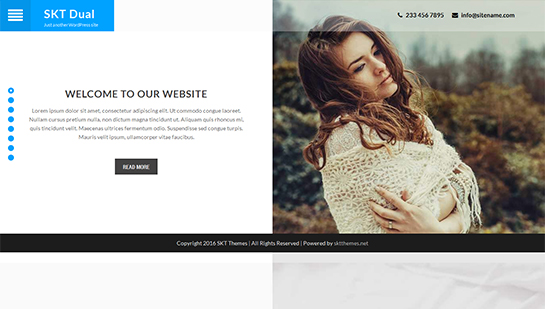 Dual -WordPress theme