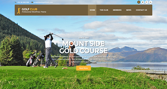 perfect-golf WordPress Theme