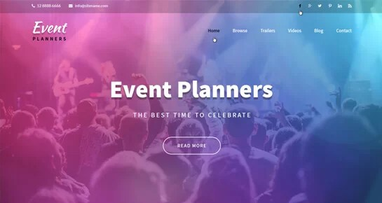 Event Agency WordPress Theme